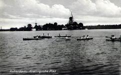 PBK-1983-1441 Gezicht op de Kralingse Plas. Op de achtergrond twee molens.