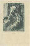 PBK-1983-1465 Een vrouw zittend aan aan venster.