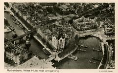 PBK-1983-1685 Luchtopname van het Witte Huis vanuit het oosten. Rechts de Oudehaven en Plan C, links Wijnhaven en ...