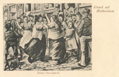 PBK-1983-352 Vechtpartij op straat tussen vrouwen.