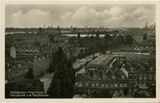 PBK-1983-478 Luchtopname vanaf de Gereformeerde Bethelkerk aan de Boergoensevliet, in de richting van het Karel de ...
