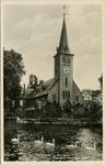 PBK-1983-487 De Waalse kerk aan de Schiedamse Vest. Op de voorgrond de Schiedamsesingel