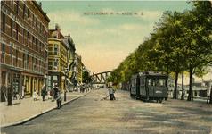 PBK-1983-792 Prins Hendrikkade, vanuit zuidwesten. Links de Leliestraat en rechts de Koningshaven.