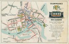 PBK-1985-23 Kaart met het tramwegnet van de Rotterdamsche Electrische Tramweg Maatschappij (RETM).