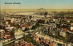 PBK-1986-263-1 Overzicht van het zuidoostelijke deel van het stadscentrum vanaf de toren van de Grote of ...