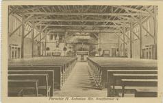 PBK-1986-6 Het interieur van de hulpkerk van de Sint-Antonius Abt aan de Jan Kruijffstraat.