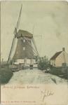 PBK-1987-1023 Watermolen gezien vanaf de Ringdijk. In 1914 werd deze molen gesloopt en vervangen door een stoomgemaal. ...