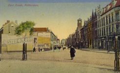 PBK-1987-1049 Gezicht op de Slaak vanaf het Oostplein, uit het zuidwesten. Rechts in het midden het gebouw van het ...