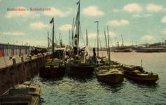PBK-1987-1058 Schepen langs de kade van de Schiehaven.