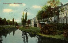 PBK-1987-1059 Gezicht op de Westersingel, uit het zuiden. Rechts de Mauritsweg.