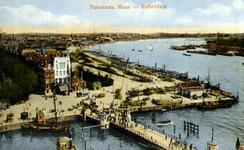 PBK-1987-1092 Koningsbrug over de Oudehaven met daarachter hotel Smits aan het Oudehoofdplein. Rechts de Nieuwe Maas ...