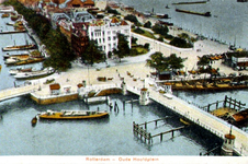 PBK-1987-1122 Oudehoofdplein, vanaf het Witte Huis. Op de voorgrond de Oudehaven, links het Haringvliet en rechts de ...