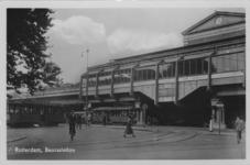 PBK-1987-1462 Gezicht op station Beurs uit het zuidoosten.