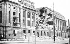 PBK-1987-1472 Restanten na het bombardement van 14 mei 1940.Opname van het postkantoor aan de Meentzijde. Uit het zuidoosten.
