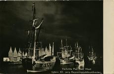 PBK-1987-1492 De verlichte Piet Hein Vloot vaart uit ter gelegenheid van het 40-jarig regeringsjubileum van H.M. ...