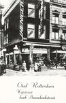 PBK-1987-1523 Het pand van hoedenwinkel J. Heniger jr. aan de Kipstraat, hoek Pannekoekstraat. Het pand werd in 1940 ...