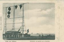 PBK-1987-1549 De seinpost voor de scheepvaart met zicht op de Noordzee.