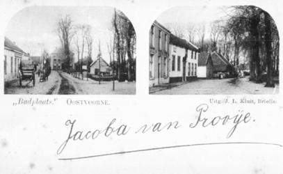 PBK-1987-1559 Prentbriefkaart met 2 afbeeldingen van de badplaats Oostvoorne.