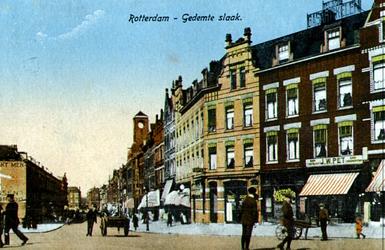 PBK-1987-262 Gezicht op de Slaak, uit het zuiden gezien, op de achtergrond de Vlietstraat en de Vlietkade, vanaf het ...