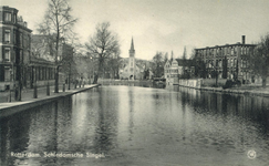 PBK-1987-485 Gezicht op de Schiedamsesingel. Links de Van Brakelstraat, het lage gebouw verderop is het ...