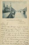 PBK-1987-730 Reclame van Louis Dobbelmann.Op de prentbriefkaart: de Willemsbrug links en de spoorbrug over de Nieuwe ...