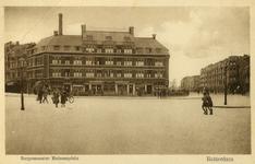 PBK-1987-838 Gezicht op het Burgemeester Meineszplein, uit het oosten. Rechts de Beukelsweg en links de Van Citterstraat.