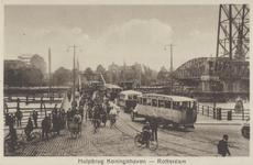 PBK-1987-880 Gezicht op de hulpbrug en de Hefbrug over de Koningshaven, naar de Oranjeboomstraat.