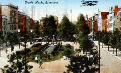 PBK-1987-964 Grotemarkt, gezien vanaf het spoorwegviaduct.