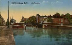 PBK-1987-968 Gezicht op de Teilingerbrug over de Rotterdamse Schie. Op de achtergrond het Sint Franciscus Gasthuis aan ...