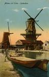PBK-1987-969 Gezicht op molen De Vlaggeman en molen Het Haantje aan de Rotterdamse Schie.