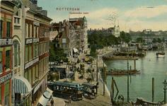 PBK-1987-988 Spaansekade bij de Roobrug. Rechts de Oudehaven. Op de achtergrond het Oudehoofdplein.