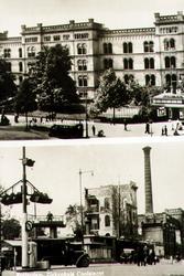PBK-1988-181 Prentbriefkaart met 2 afbeeldingen van voor en na het bombardement van 14 mei 1940.Het ...