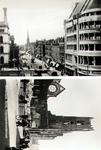 PBK-1988-185 Twee afbeeldingen van de Van Oldenbarneveldstraat. Voor en na het bombardement van 14 mei 1940.