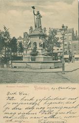 PBK-1990-101 Monument Maagd van Holland aan de Nieuwemarkt.