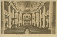 PBK-1990-209 Het interieur de Kerk van de rooms-katholieke Sint-Laurentiuskerk aan de Houttuin.