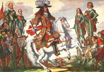 PBK-1991-180 Portret van stadhouder Willem III te paard.