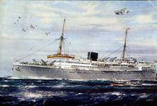 PBK-1992-3 De Baloeran, passagiersschip van de Rotterdamse Lloyd.