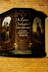 PBK-1992-335 Het uithangteken van de schoorsteenvegerszaak Zanino en Lopetro in de Nieuwsteeg, uit de collectie van het ...
