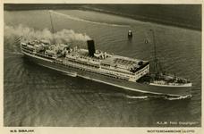PBK-1992-35 M.S. Sibajak, passagiersschip van de Koninklijke Rotterdamse Lloyd.
