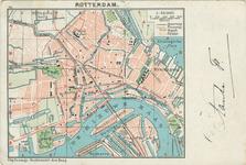 PBK-1993-1008 Prentbriefkaart met plattegrond van de gemeente Rotterdam schaal 1:50.000.