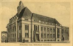 PBK-1993-1010 Gezicht op de Gemeentelijke Bibliotheek aan de Nieuwemarkt, links de Botersloot.