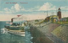 PBK-1993-1254 Gezicht op de Nieuwe Waterweg met aanlegsteigers voor rondvaartboten