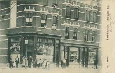 PBK-1993-179 Café op de hoek van de Rechthuislaan en de Katendrechtsestraat.