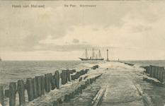 PBK-1993-203 De Noorderpier met rails voor het reddingstoestel in Hoek van Holland.