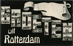 PBK-1993-324 Prentbriefkaart met 21 verschillende stads- en riviergezichten verdeeld over 7 letters.