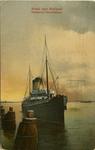 PBK-1993-368 De aankomst van de Harwichboot in Hoek van Holland.