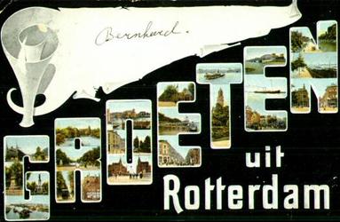 PBK-1993-374 Prentbriefkaart met 20 verschillende afbeeldingen in de letters GROETEN.