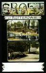 PBK-1993-376 Prentbriefkaart met twee verschillende afbeeldingen van de Rotterdamsche Diergaarde aan de ...