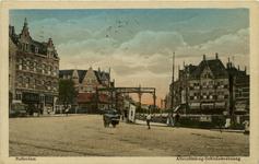PBK-1993-459 De Aelbrechtsbrug en op de achtergrond de Schiedamseweg, vanuit de Havenstraat.