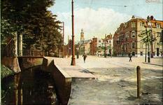 PBK-1993-541 Gezicht op de Oudedijk. Op de achtergrond rechts de Nederlandse Hervormde Hoflaankerk.
